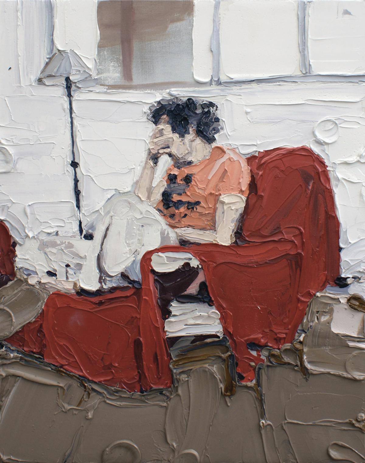 Guerandelle 2, 2010 Huile sur toile, 100 x 90 cm ©Vincent Ruffin