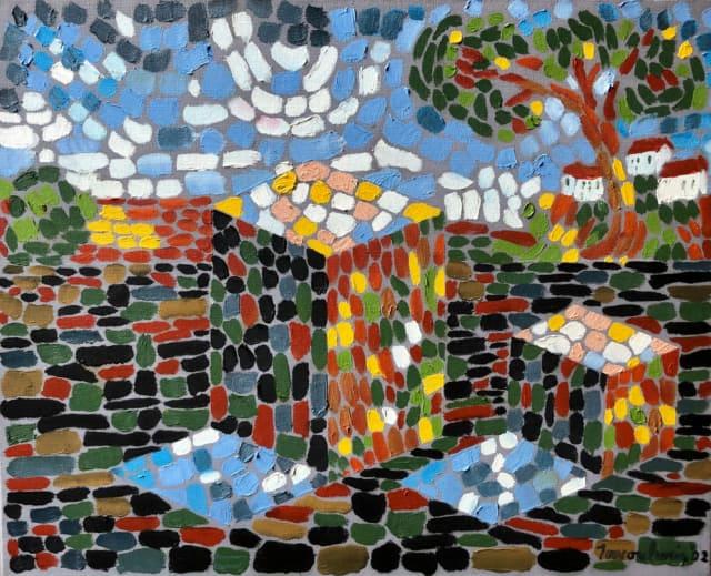 Untitled #66, 2002 Acrylique sur toile, 41 x 33 cm ©Dean Tavoularis