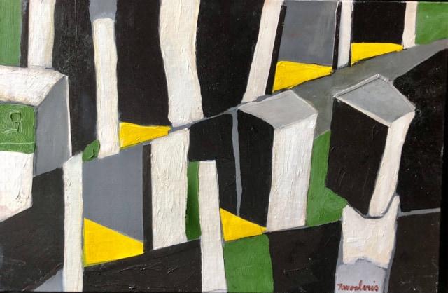 Untitled #70, 2004 Huile sur toile carton, 41 x 27 cm ©Dean Tavoularis