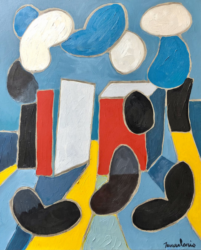 Untitled #80, 2004 peinture acrylique sur toile DT21-026 ©Dean Tavoularis