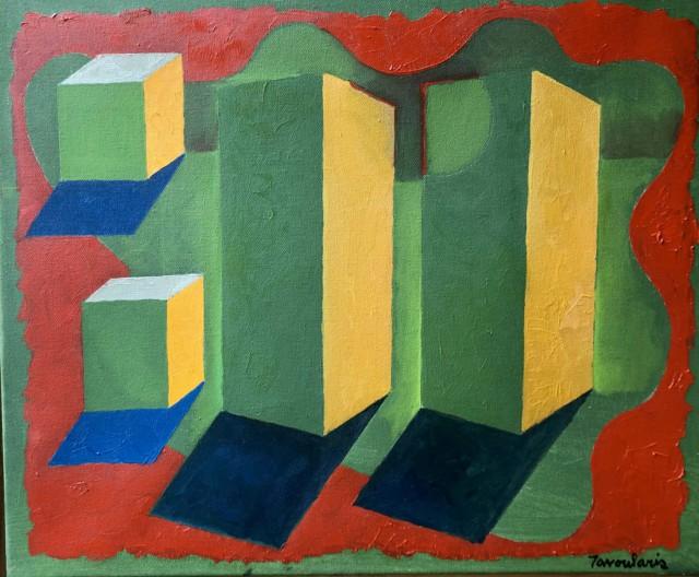 Untitled #83 Huile sur carton, 40 x 50 cm ©Dean Tavoularis