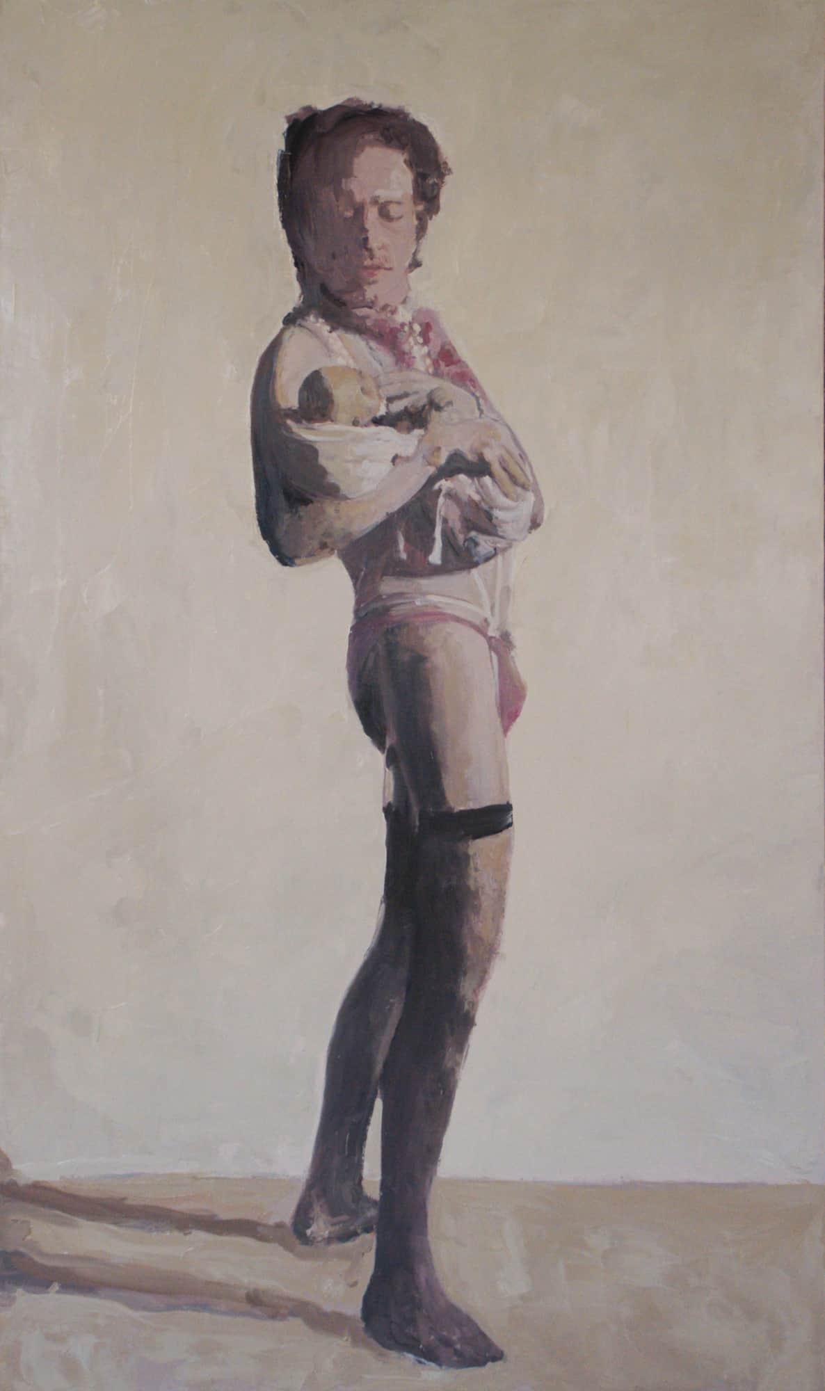 Il ou elle, 2011 Huile sur toile, 97 x 114 cm ©Vincent Ruffin