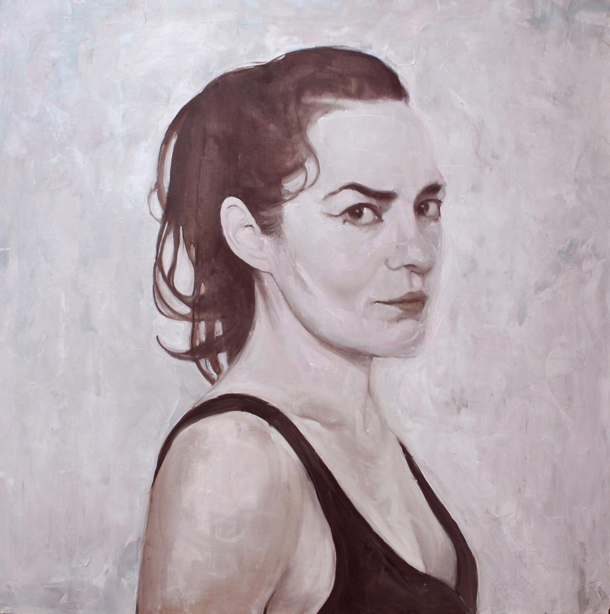 Isa casa, 2011 Huile sur toile, 150 x 150 cm ©Vincent Ruffin