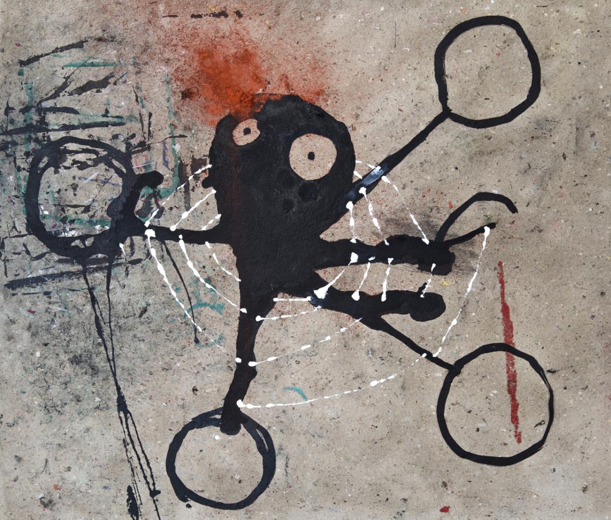 Jerzy, 2019 Encre de chine, peinture métallique et pigment sur carton 78 x 67 cm ©ROCHEGAUSSEN