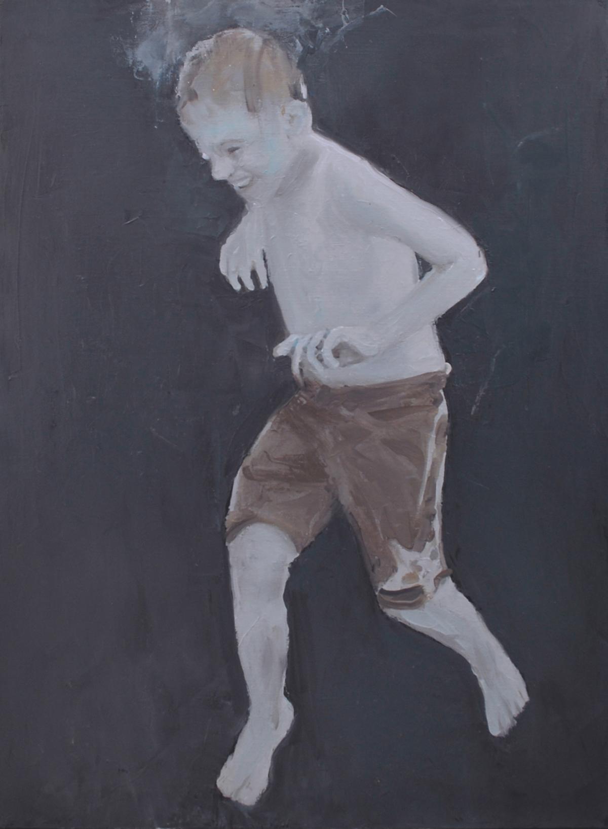 Jeux d'eau, 2011 Huile sur toile, 92 x 65 cm ©Vincent Ruffin