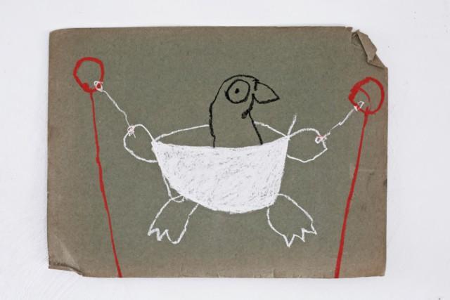 Jules au bain II, 2020 Pastel sur papier 43 x 33 cm ©ROCHEGAUSSEN