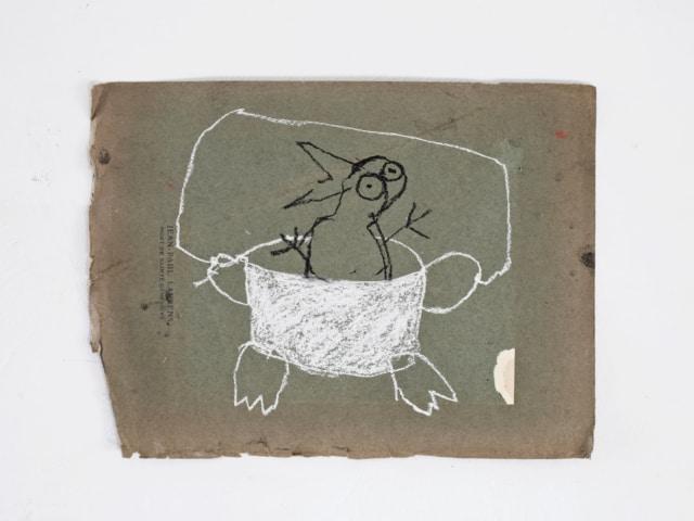 Jules au bain III, 2020 Pastel sur papier 23 x 32 cm ©ROCHEGAUSSEN