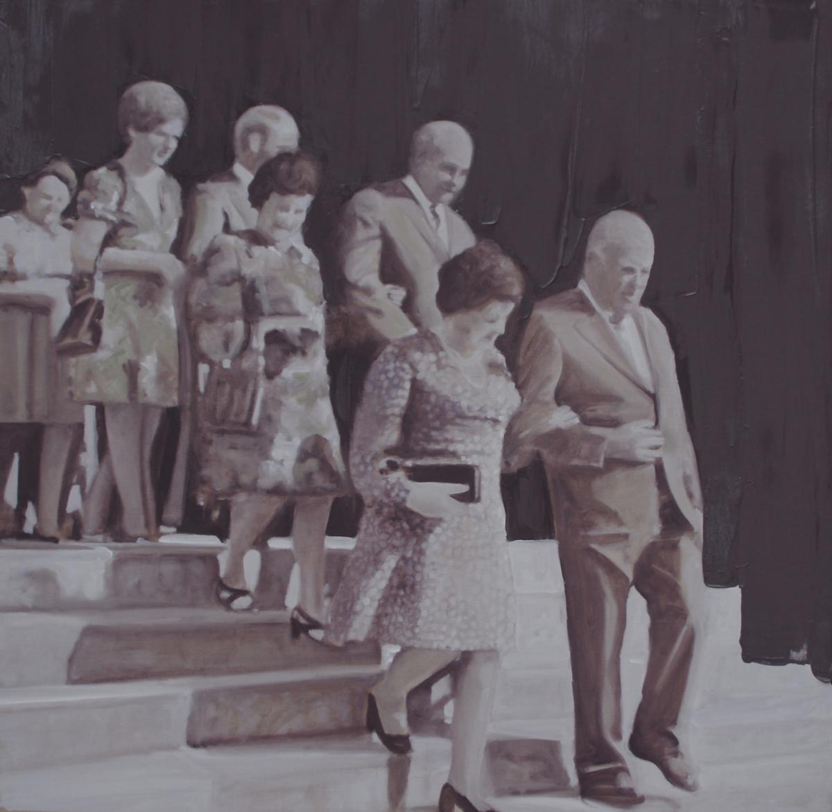 La descente, 2012 Huile sur toile, 110 x 110 cm ©Vincent Ruffin