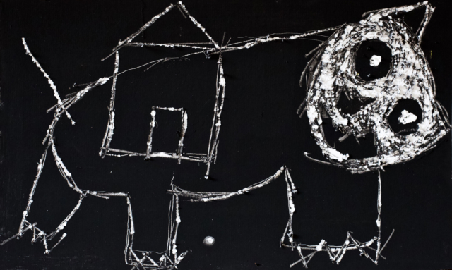 La maison du chat qui pelote II, 2019 45 x 28 cm ©ROCHEGAUSSEN