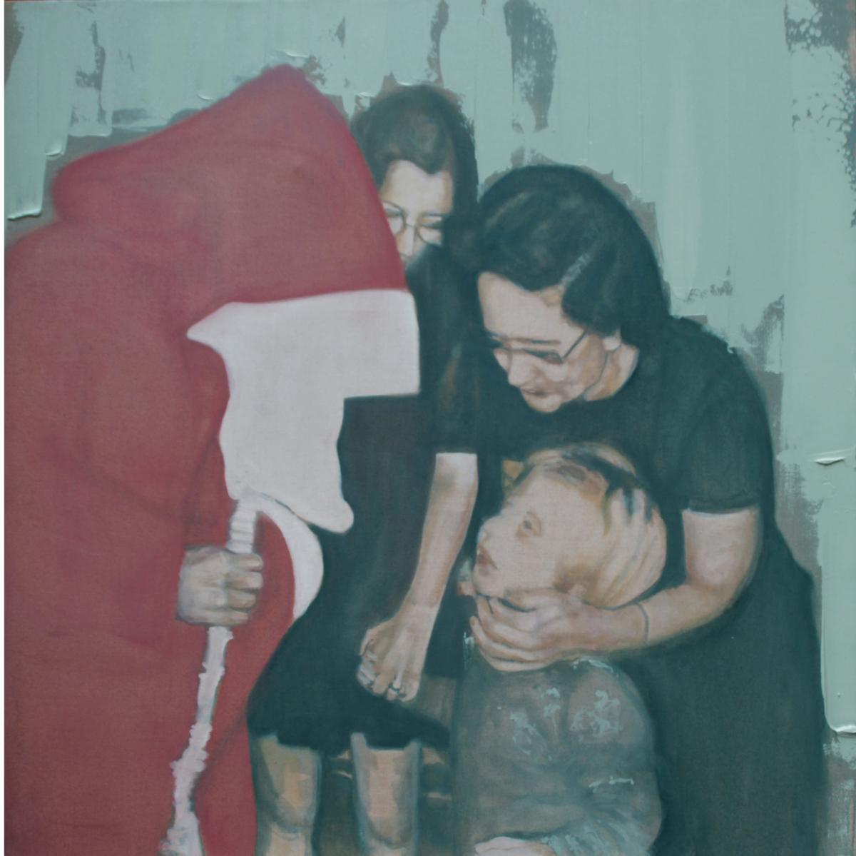 Le Père Noël, 2012 Huile sur toile, 110 x 110 cm ©Vincent Ruffin