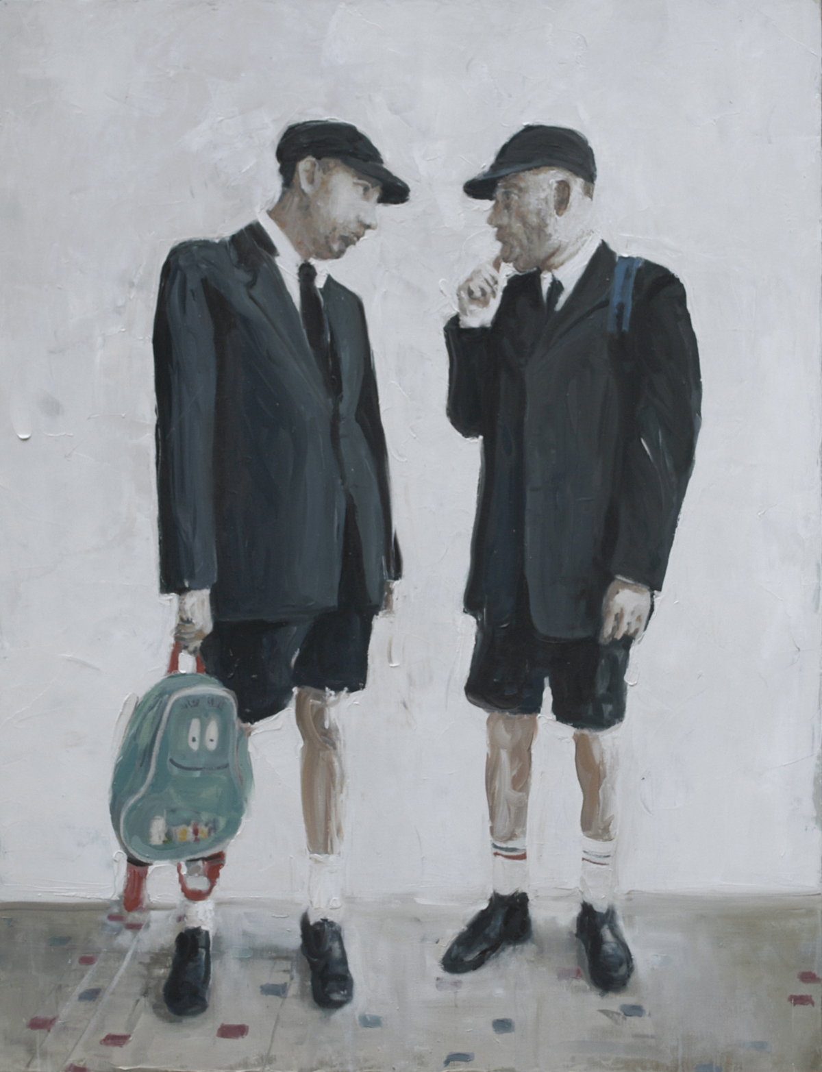 Les écoliers, 2012 Huile sur toile, 86 x 116 cm ©Vincent Ruffin