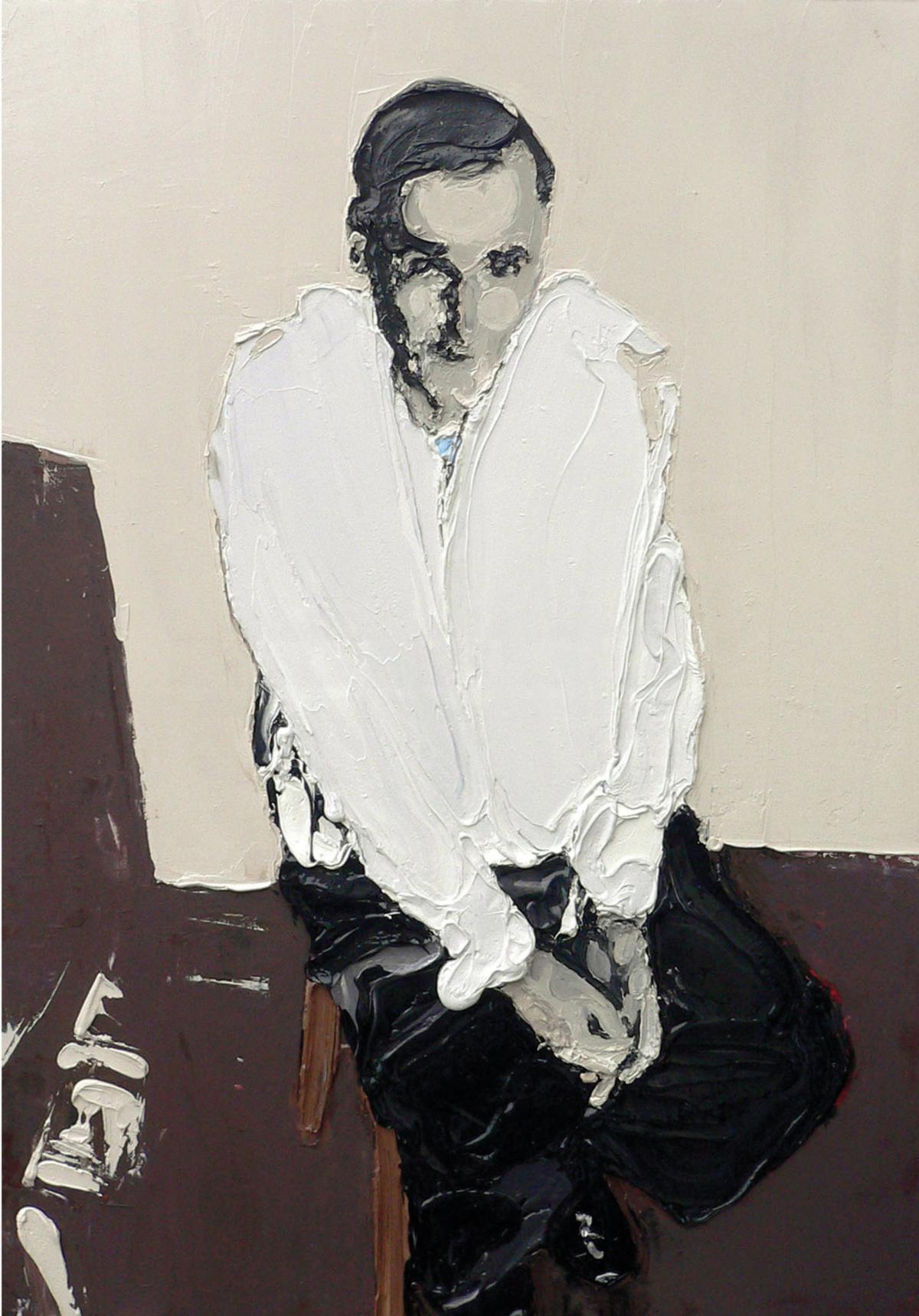 Mr Sicard, 2009 Huile et acrylique sur toile, 116 x 89 cm ©Vincent Ruffin