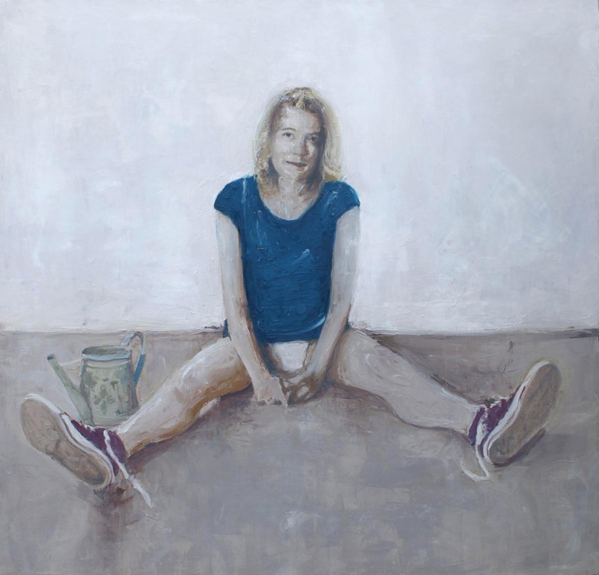Martine, 2011 Huile sur toile, 120 x 120 cm ©Vincent Ruffin