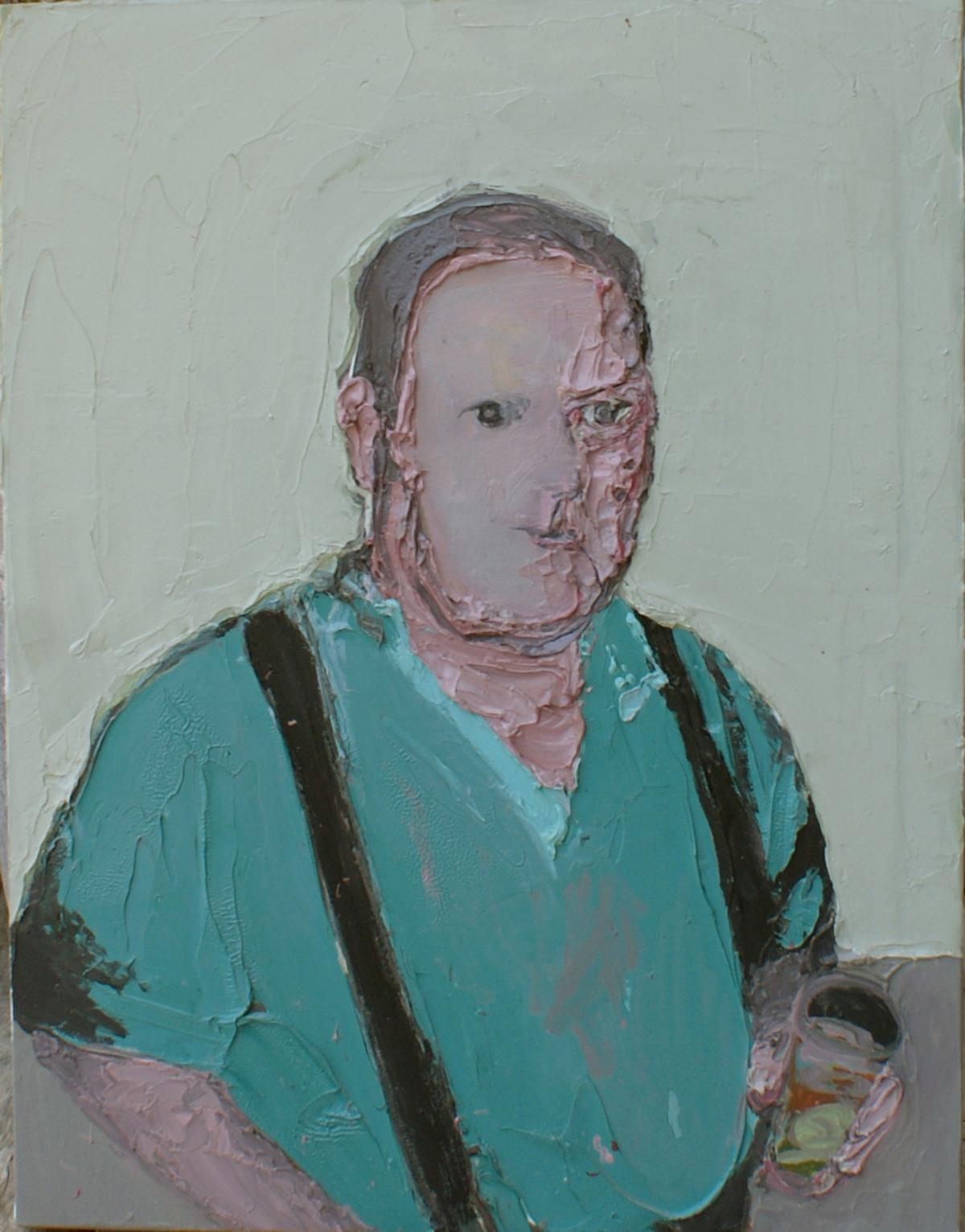 Mr Ruffin, 2009 Huile et acrylique sur toile, 60 x 50 cm ©Vincent Ruffin