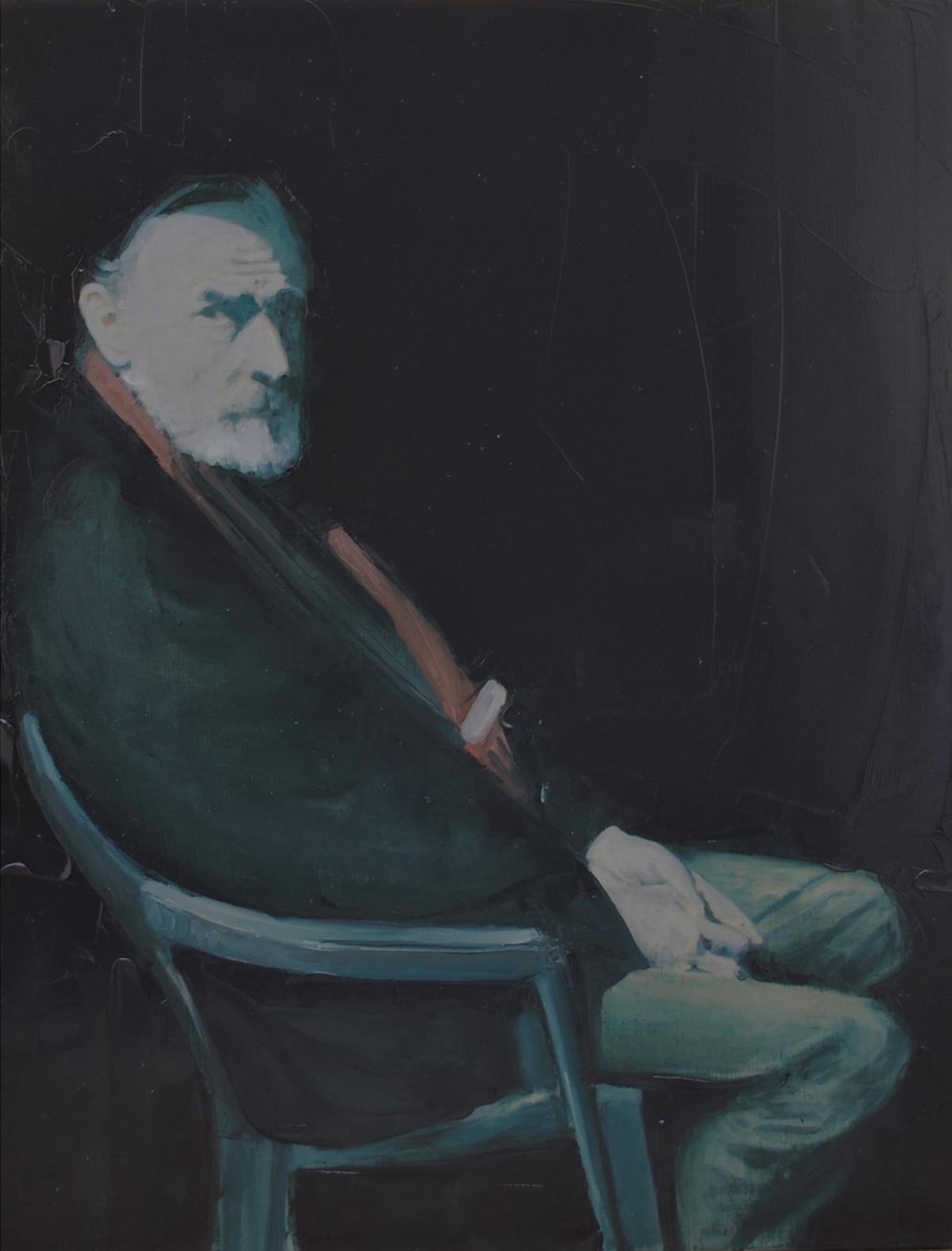 Mr Sicard, 2011 Huile sur toile, 116 x 89 cm ©Vincent Ruffin