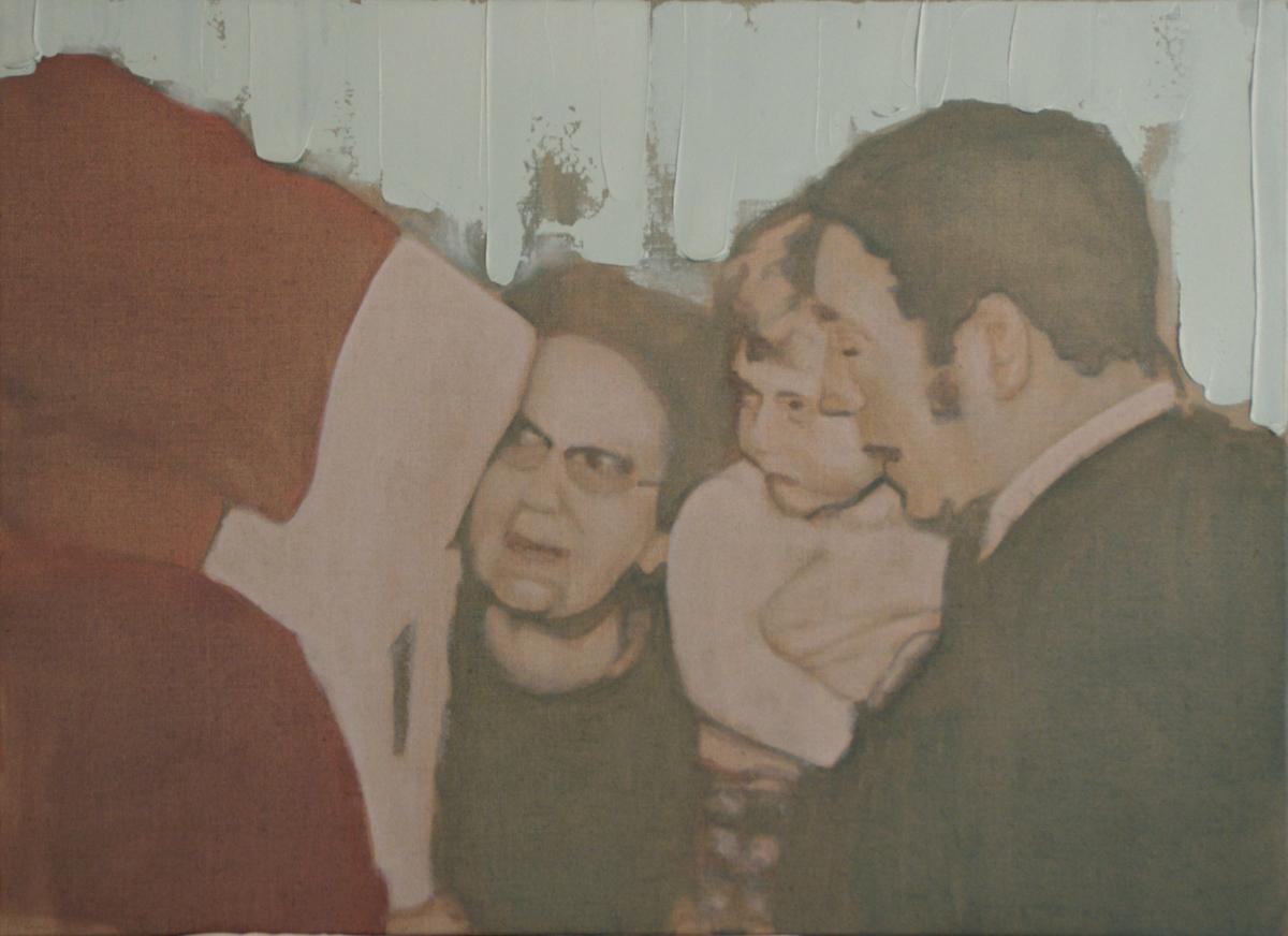 Noël, 2012 Huile sur toile, 73 x 54 cm ©Vincent Ruffin