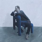 Portrait Olivier, 2011 Huile sur toile, 120 x 120 cm ©Vincent Ruffin
