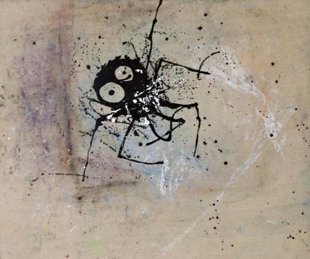 La galaxie des apparences, 2019 Encre de chine, peinture métallique et pastel sur carton 69,5 x 82 cm ©ROCHEGAUSSEN