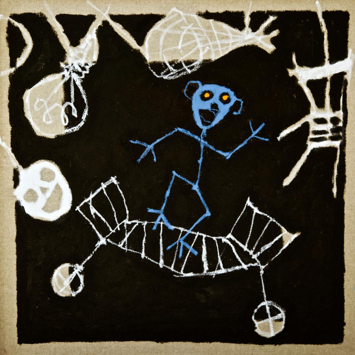 Dancing in the dark, 2021 peinture huile sur toile 50 x 50 cm RG-2103 ©ROCHEGAUSSEN