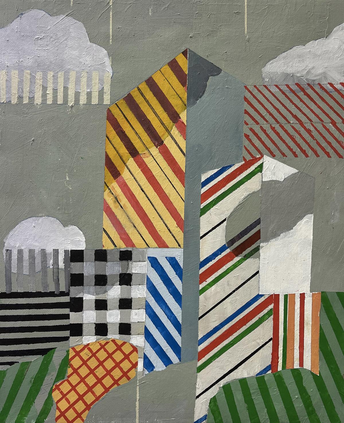 Untitled #106, 2020 peinture acrylique sur toile 46 x 38 cm DT21-053 ©Dean Tavoularis