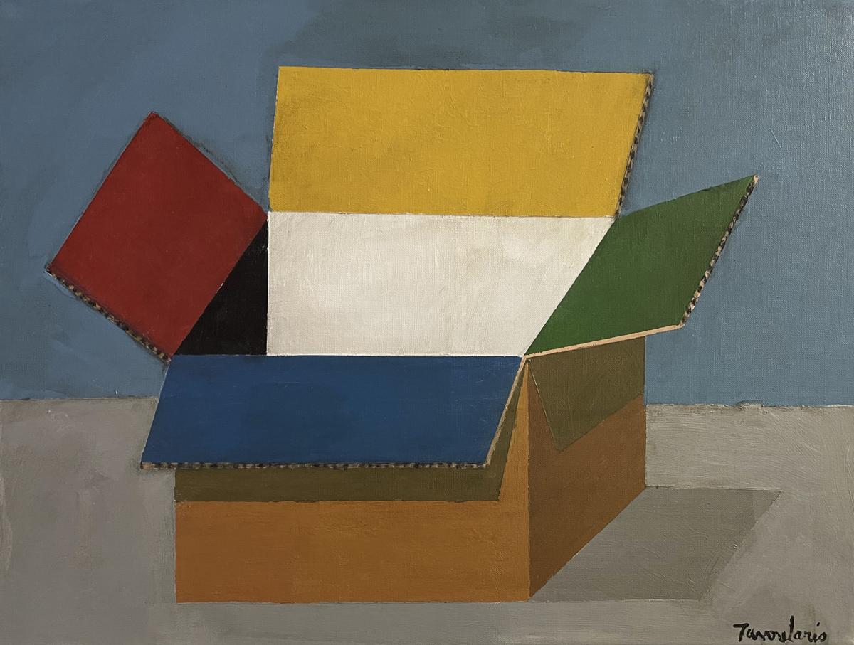 Box, 2018 peinture acrylique sur toile 46 x 61 cm DT21-057 ©Dean Tavoularis