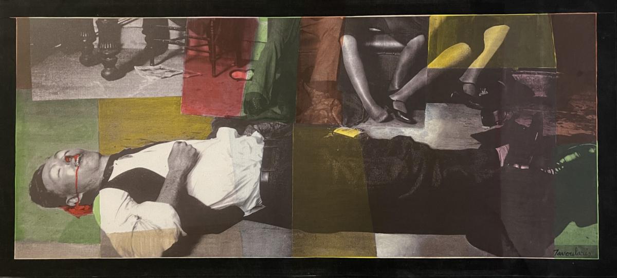 à vos pieds, 2007 peinture acrylique sur toile photosensible 61 x 131 cm DT21-067 ©Dean Tavoularis