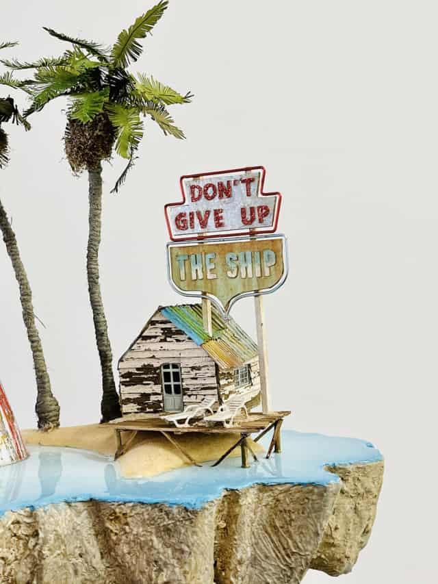 Don't give up the ship, 2021  Sculpture 50 x 50 x 21 cm LF-2101 ©LA FRATRIE