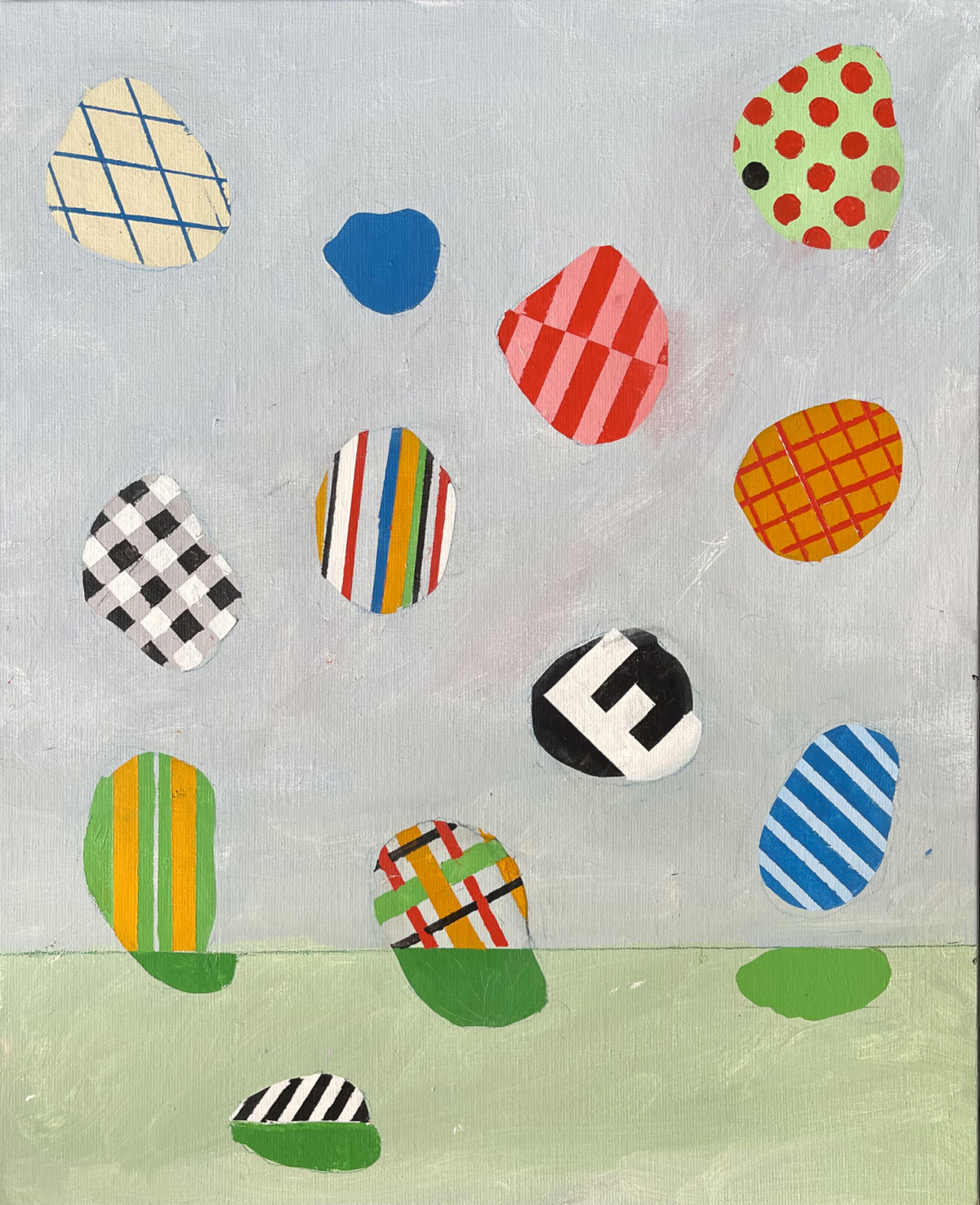 Falling particules, 2021 Acrylique sur toile, 61 x 50 cm DT21-071 ©Dean Tavoularis