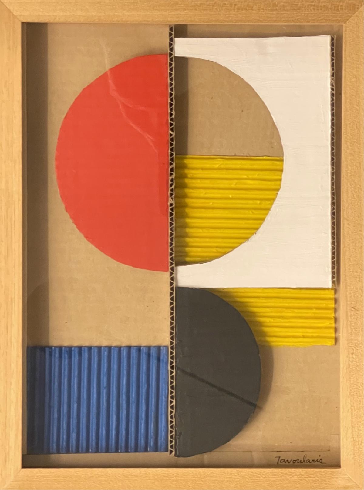 Untitled, 1999 Collage cartons peints, 32,5 x 23 cm DT21-072 ©Dean Tavoularis