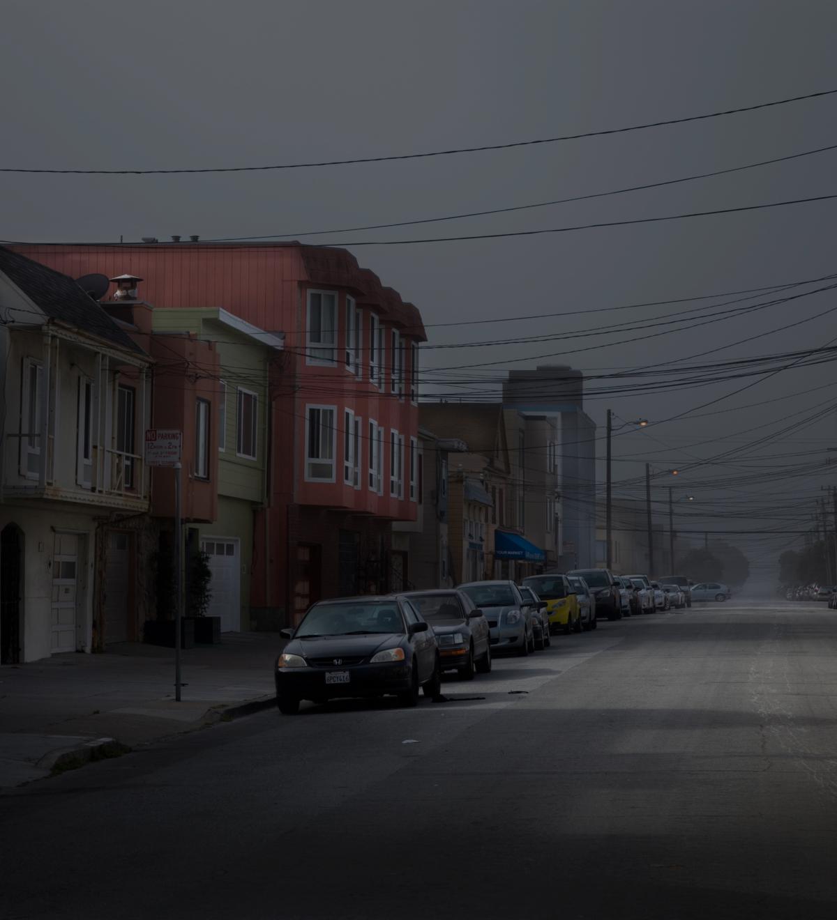 Houses (diptyque), 2013 série Spotting LA ©Nicolas Dhervillers