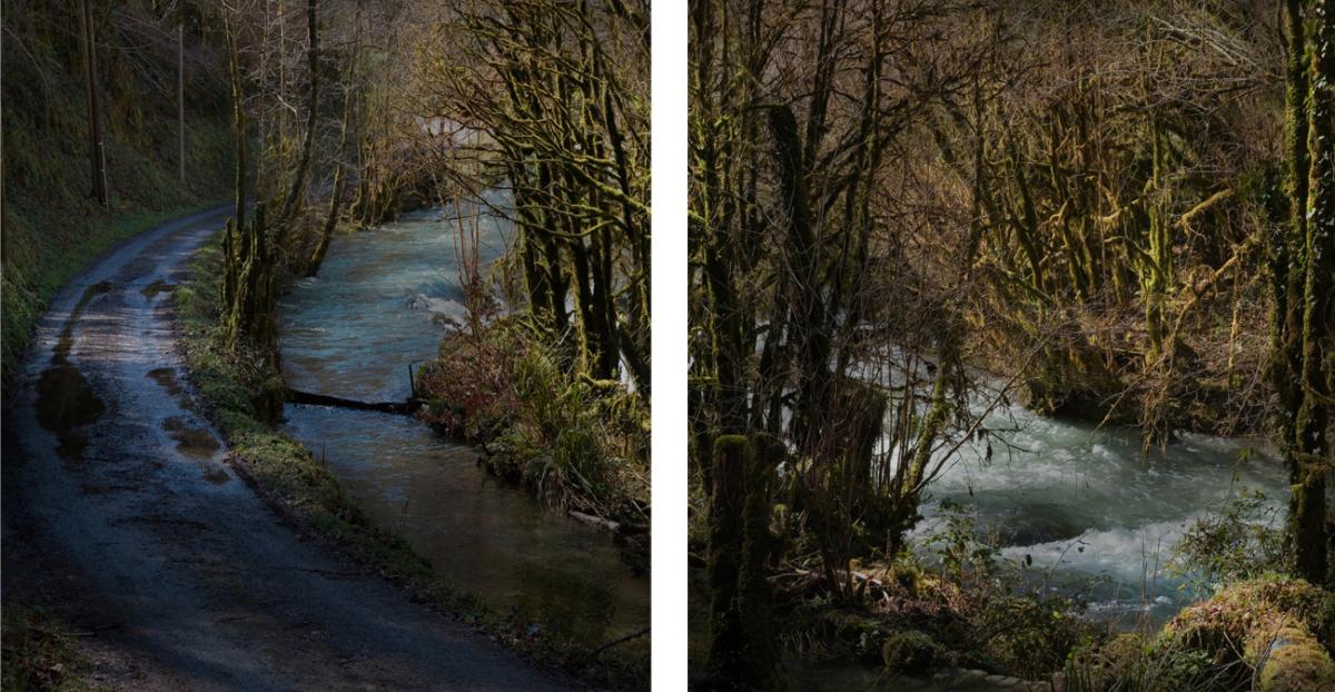 River 6 - Diptyque 2 x 60 x 90 cm ©Nicolas Dhervillers