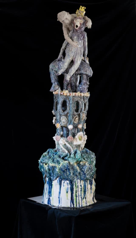 Fontaine King, 2021 Sculpture céramique H 160 x D 45 cm BC-2104 ©Bachelot&Caron