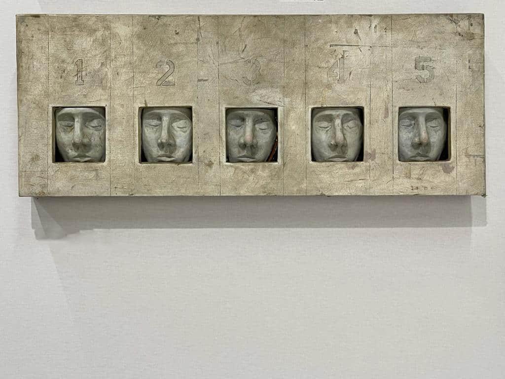 12345, 1969 Peinture et plâtre, 36 x 91,7 cm ©Dean Tavoularis Art Paris Art Fair 2021, Grand Palais Éphémère, Paris 9 > 12 septembre 2021