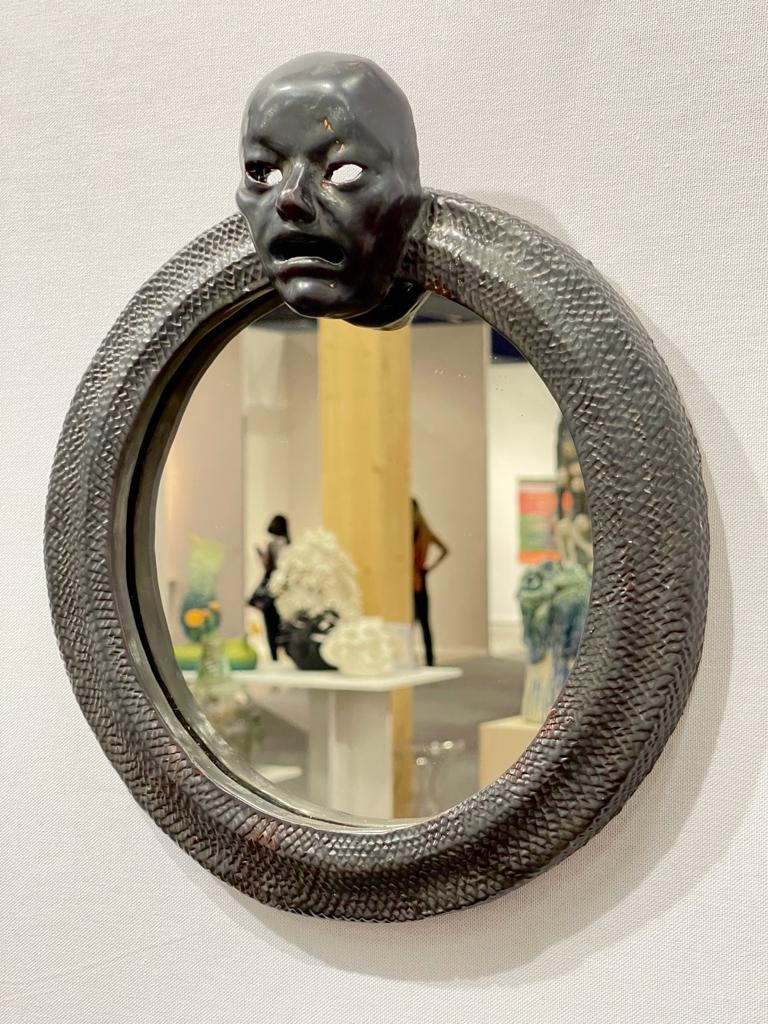 Masque, 2021 Céramique, 28 x 33 cm ©Denis Polge Art Paris Art Fair 2021, Grand Palais Éphémère, Paris 9 > 12 septembre 2021