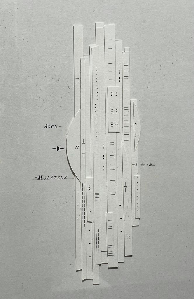 Accumulateur, 1994 Papier plié, 48 x 32 cm ©Marie Orensanz Art Paris Art Fair 2021, Grand Palais Éphémère, Paris 9 > 12 septembre 2021