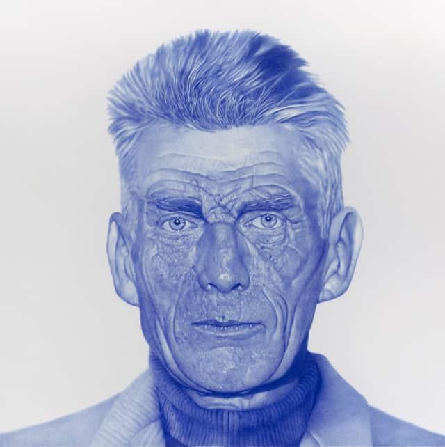 Samuel, 2021 Dessin au stylo à bille sur papier 100 x 100 cm ©KONRAD