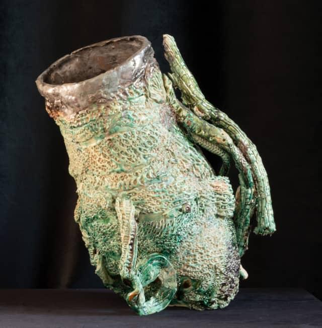 Vase étrusque No Entry, 2021 Sculpture céramique H 45 x D 41 cm BC-2110 ©Bachelot&Caron