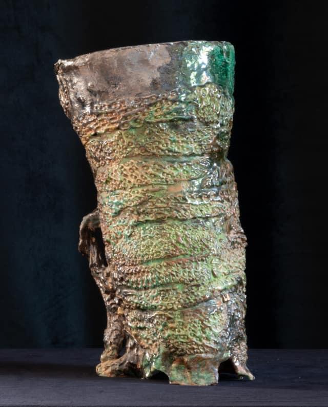 Vase étrusque Redon, 2021 Sculpture céramique H 39 x D 25 cm BC-2111 ©Bachelot&Caron