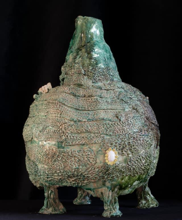 Vase étrusque Sans Photo, 2021 Sculpture céramique H 60 x D 40 cm BC-2112 ©Bachelot&Caron